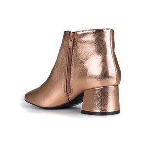 d7a607f5599 Qupid Shoes -  NWOB  Qupid Metallic booties rose gold